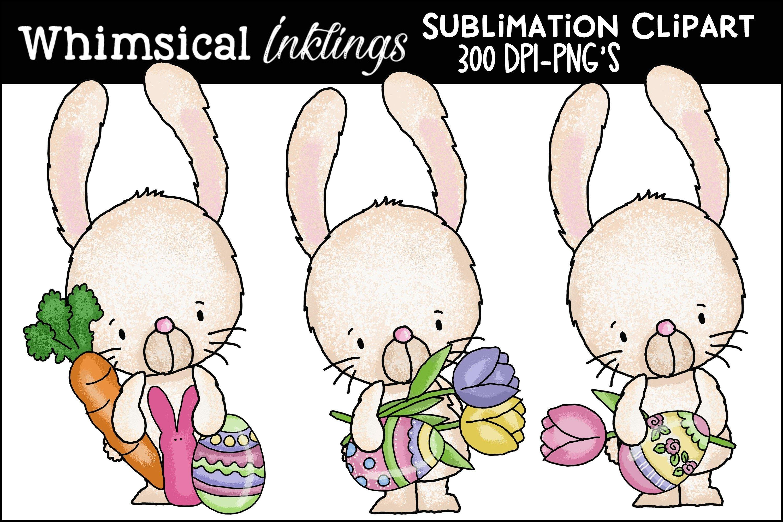 Easter Sublimation Download Sublimation SCL11 Kids Printable Clip Art Easter Bunny Mug Easter Shirt Template Easter Bunny Clipart