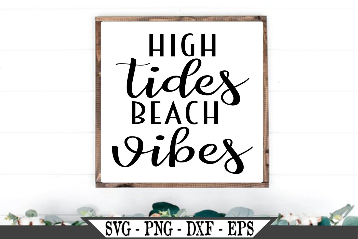 High Tides Beach Vibes SVG example image 1