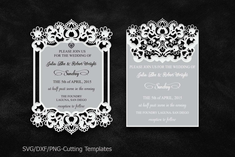 Get Free Laser Cut Wedding Invitation Svg PNG