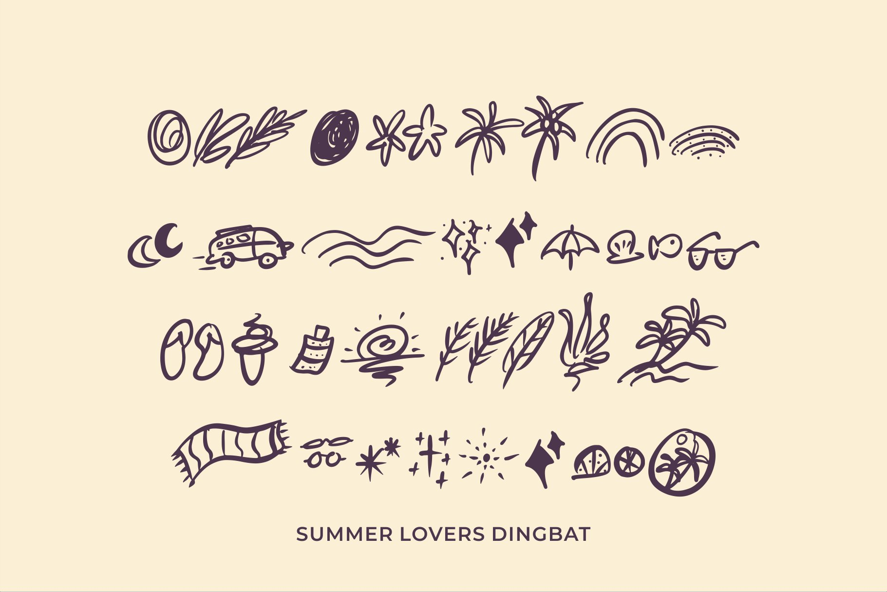 Summer Lovers with Alternate and Dingbat example image 8