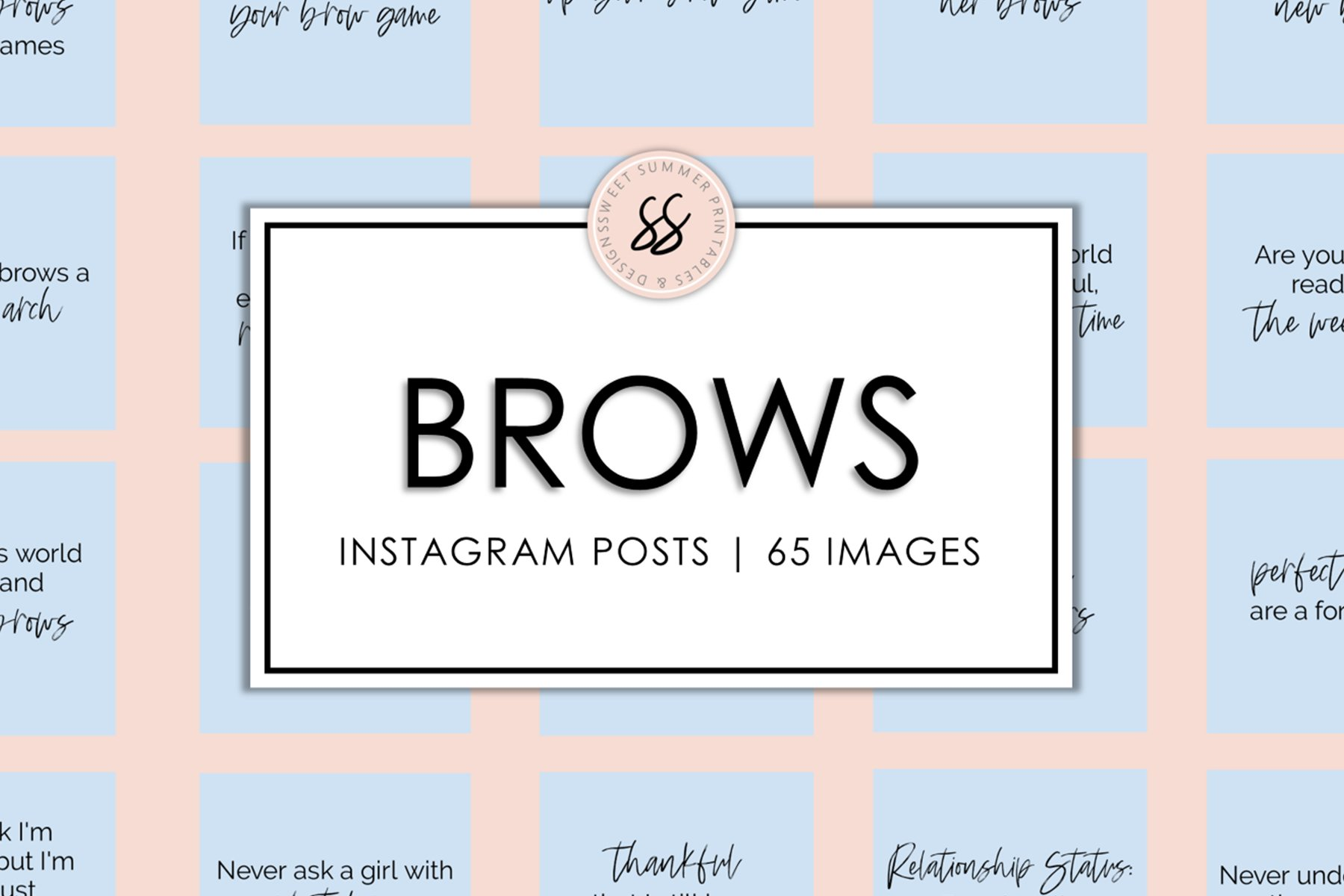 Brows Light Blue Instagram Posts example image 1