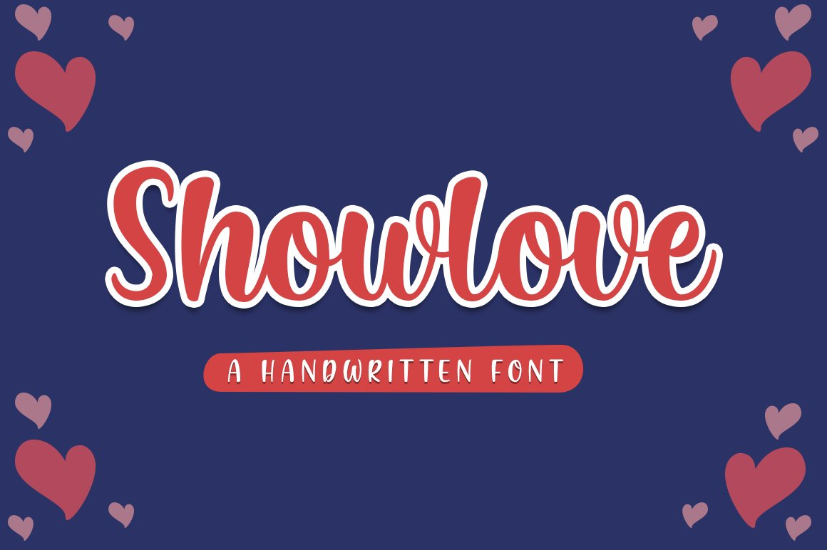 Showlove - a lovely font example image 1