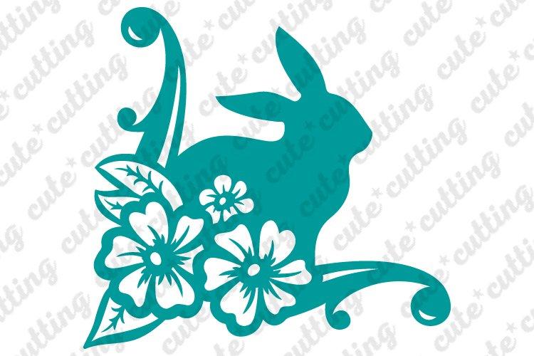 Floral Easter Bunny Svg Dxf Pdf Png Jpeg Cutting File 209050 Svgs Design Bundles