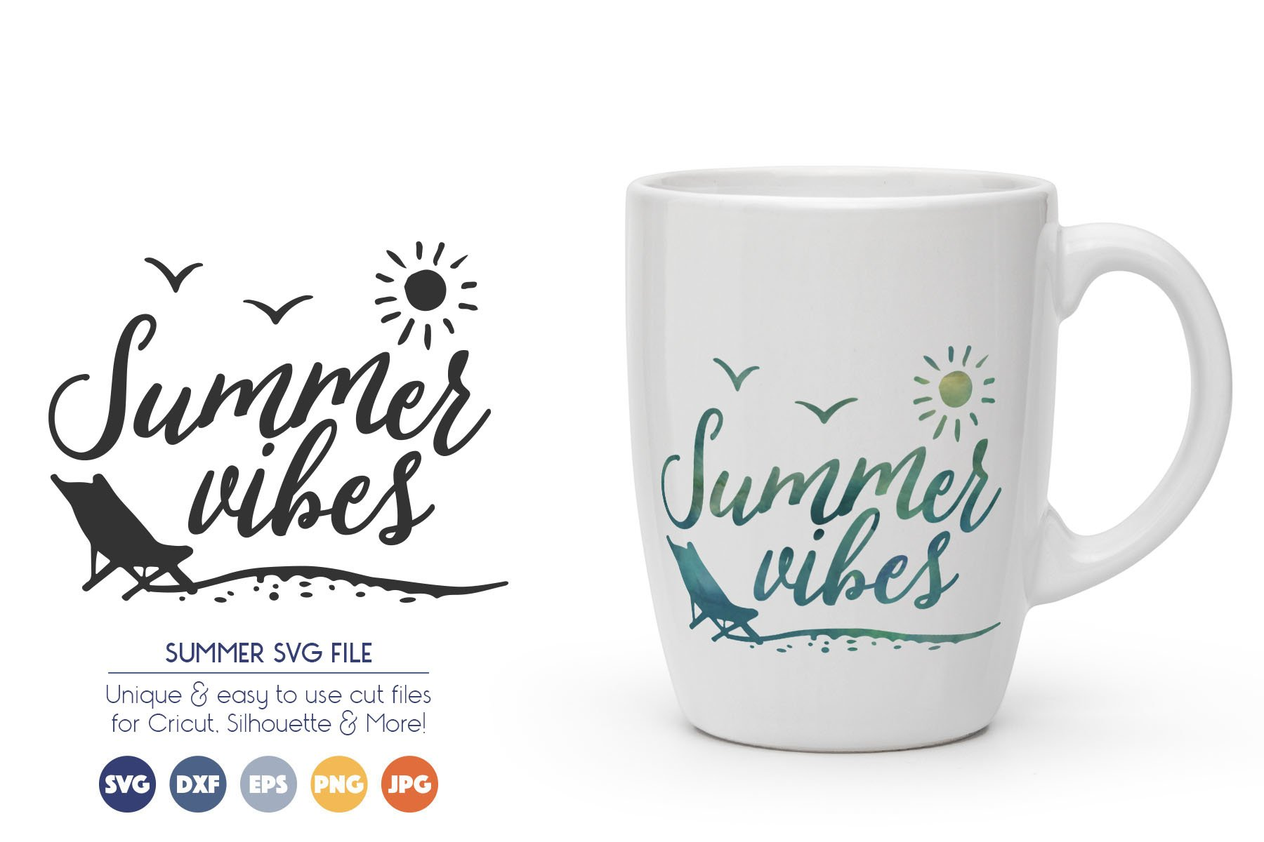 Summer Vibes SVG Cut Files example image 1