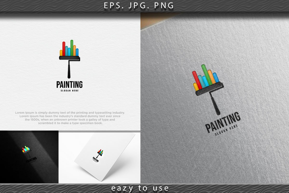 Roll Painting Logo Ideas Inspiration Logo Design Template 755103 Logos Design Bundles