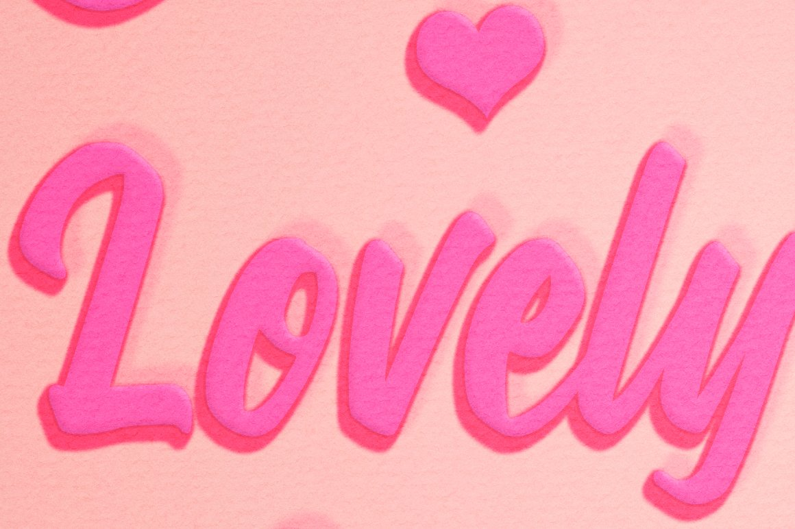 Lovely Text Effect for Photoshop example image 4