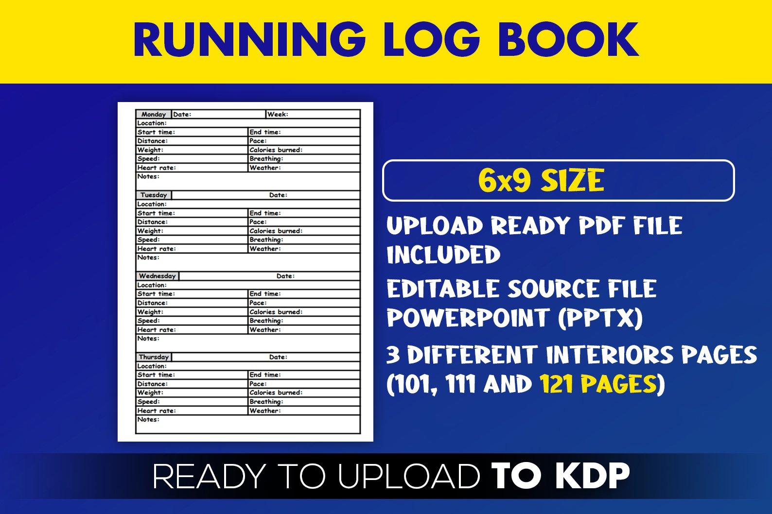 Running Log Book Jogging Tracker| KDP Interior example image 2