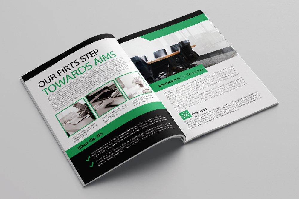Business Annual Report Brochure 16 Pages example image 8