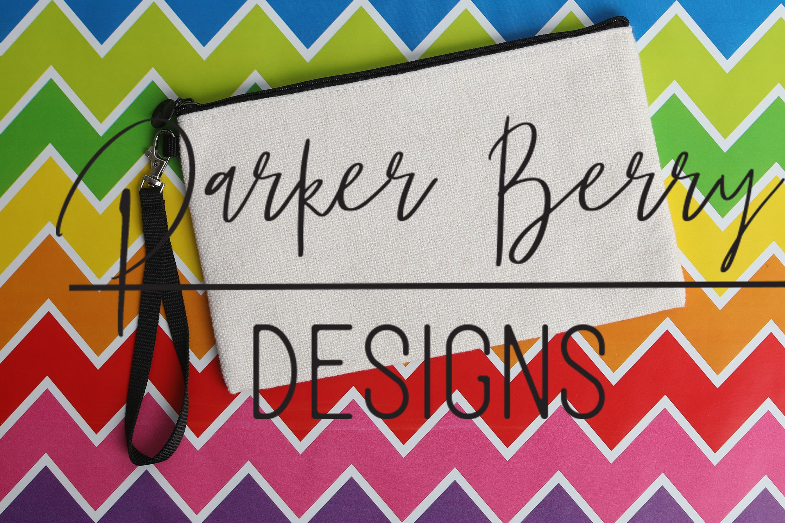 Blank Canvas Bag, Make up Bag, Rainbow Case Mock up example image 1