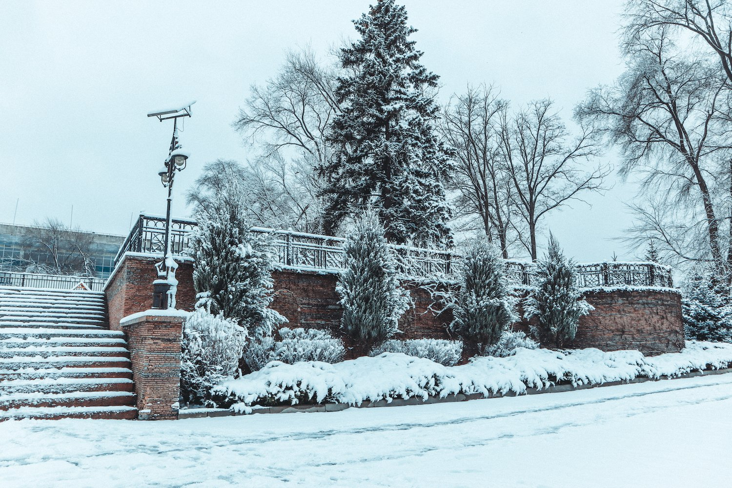 winter city landscape with snow example image 1