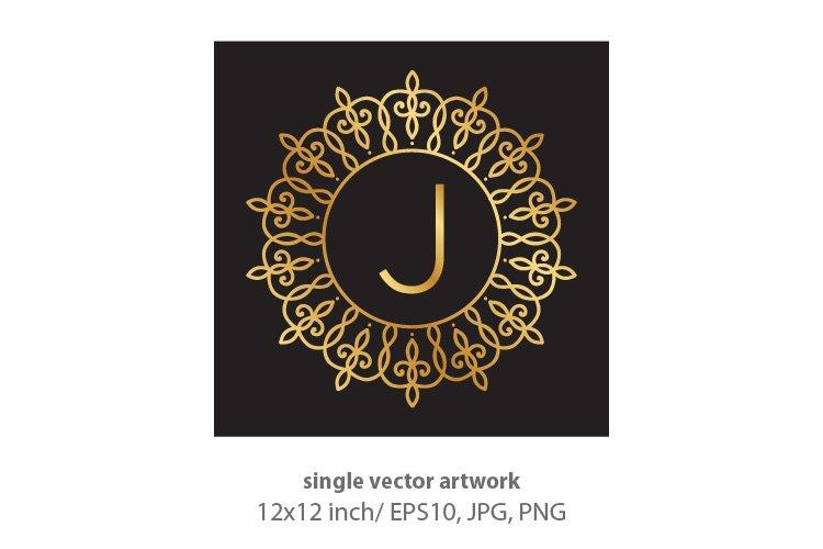 Letter j, inside luxury frame example image 1