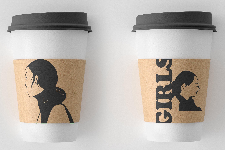 Girls portraits! 9 illustrations - eps, svg, png, jpg, cdr example image 12