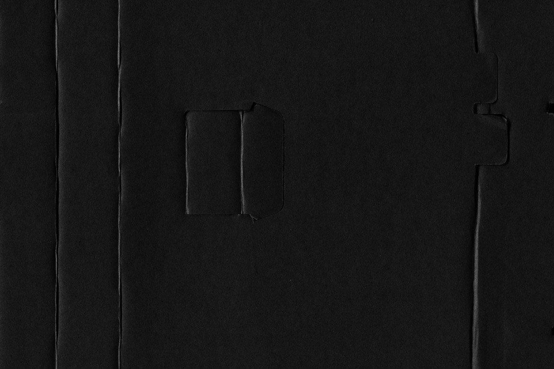 Black Cardboard Textures 2 example image 5