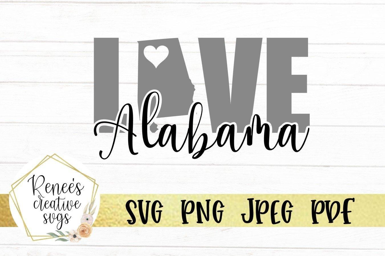 Alabama Love | State SVG | SVG Cutting file example image 2