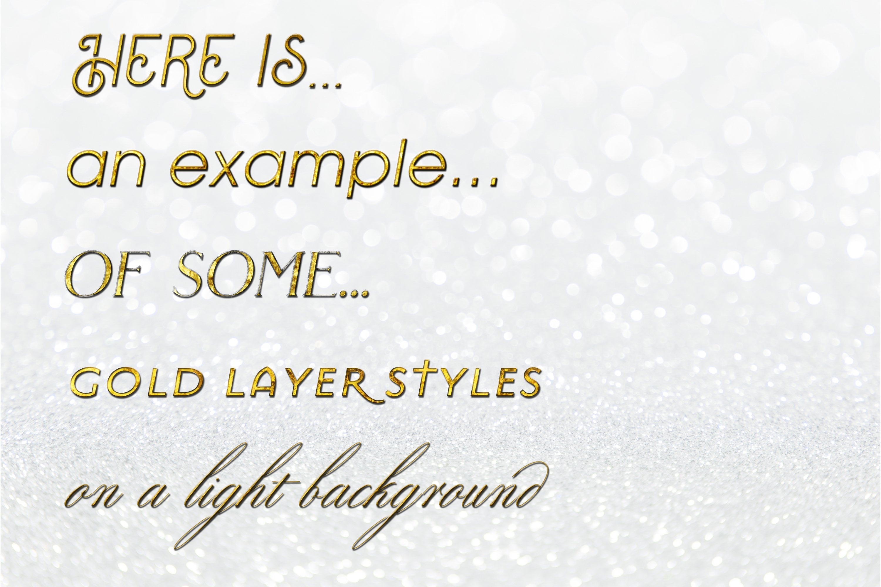60 Layer Styles Bundle for Photoshop - Gold, Rose G, Silver example image 5