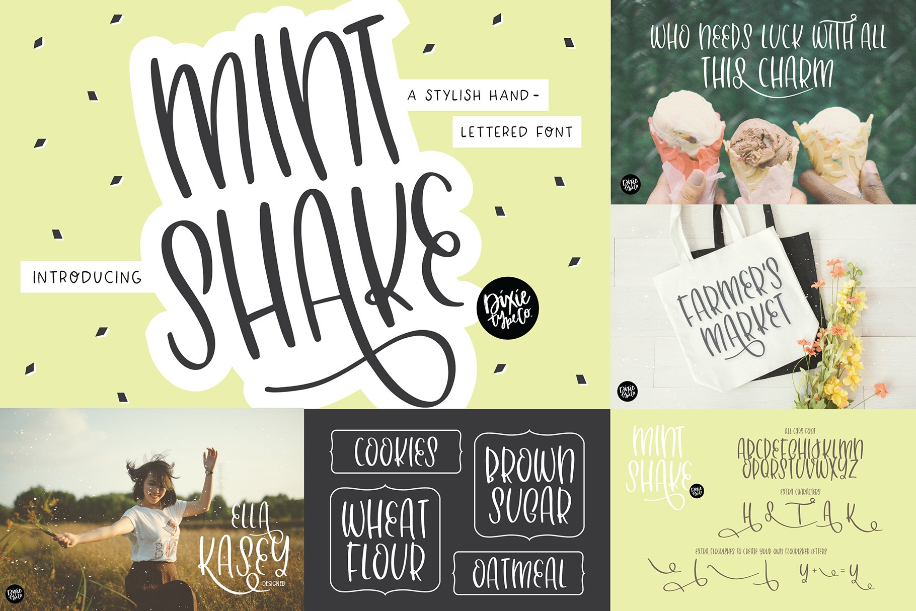 Hand Lettered Font Bundle by Dixie Type Co. example image 5