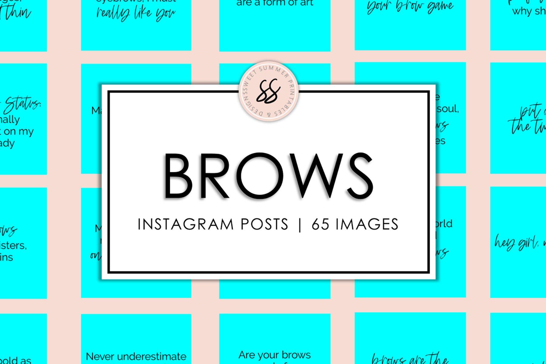 Brows Aqua Instagram Posts example image 1