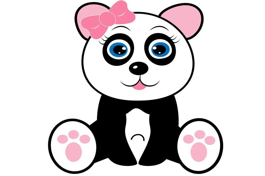 Panda Svg Panda Clipart Cute Baby Panda Svg Panda Girl S 1082858 Illustrations Design Bundles
