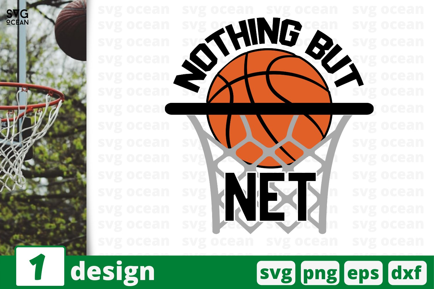 NOTHING BUT NET SVG CUT FILE | Basketball cricut example image 1