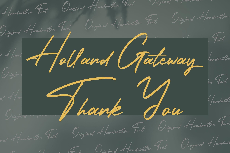 Holland Gateway - Handwritten Script Font example image 8
