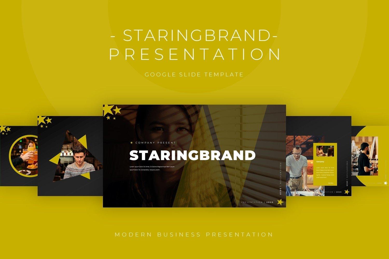 Staringbrand - Google Slide Template example image 1