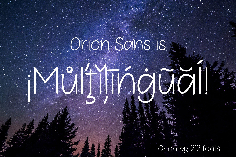 Orion Sans Serif Handwritten Optimistic Girly OTF Font example image 4