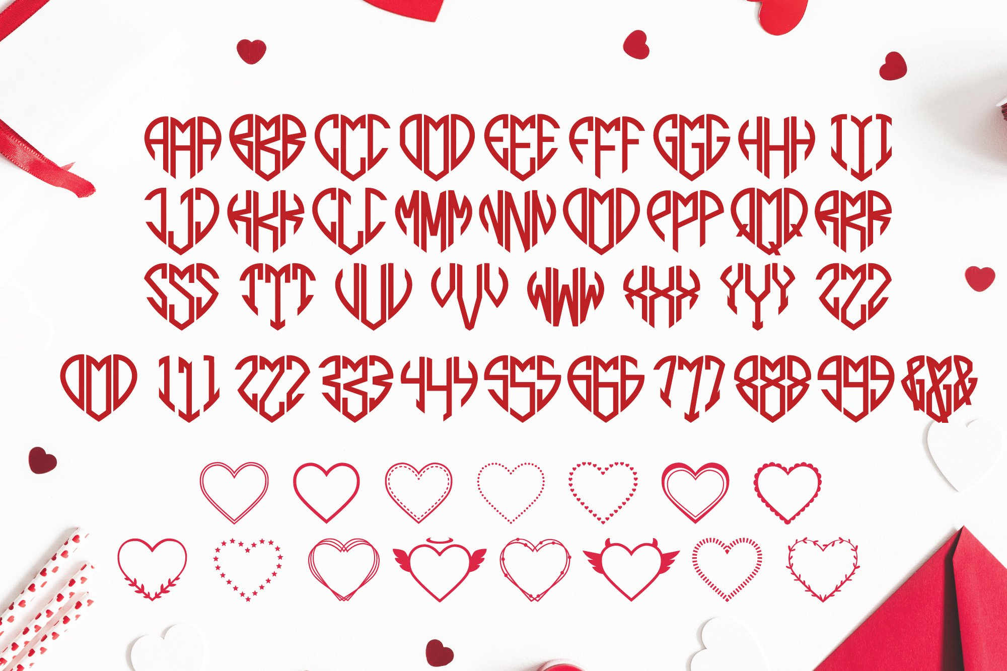 BIG Monogram Font Bundle | The Ultimate Bundle! example image 6