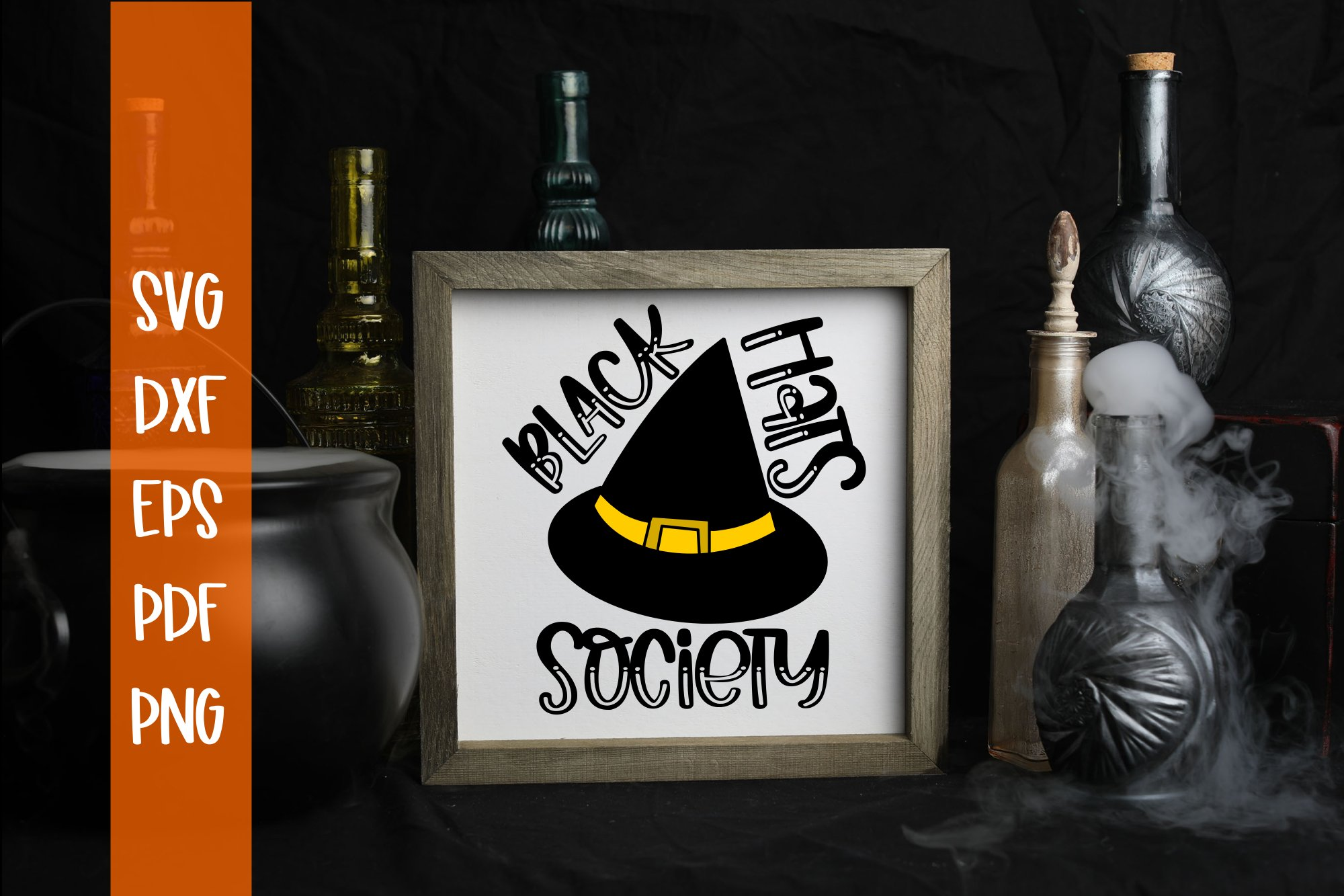 Black Hats Society Halloween SVG example image 1
