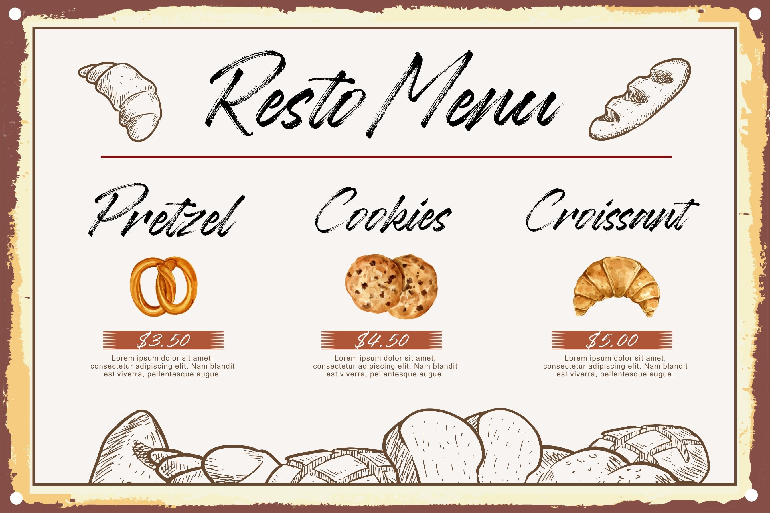 Baguette Natural Handbrushed Font example image 4