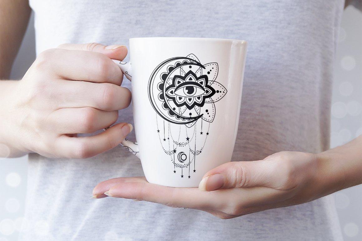 Boho illustration | Mystical Line art example image 4