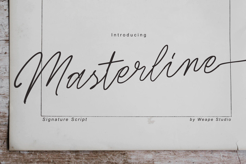 Masterline - Signature Script example image 1