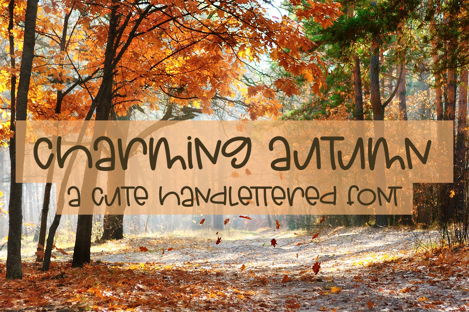 Charming Autumn - A Fun Hand-Lettered Font example image 1