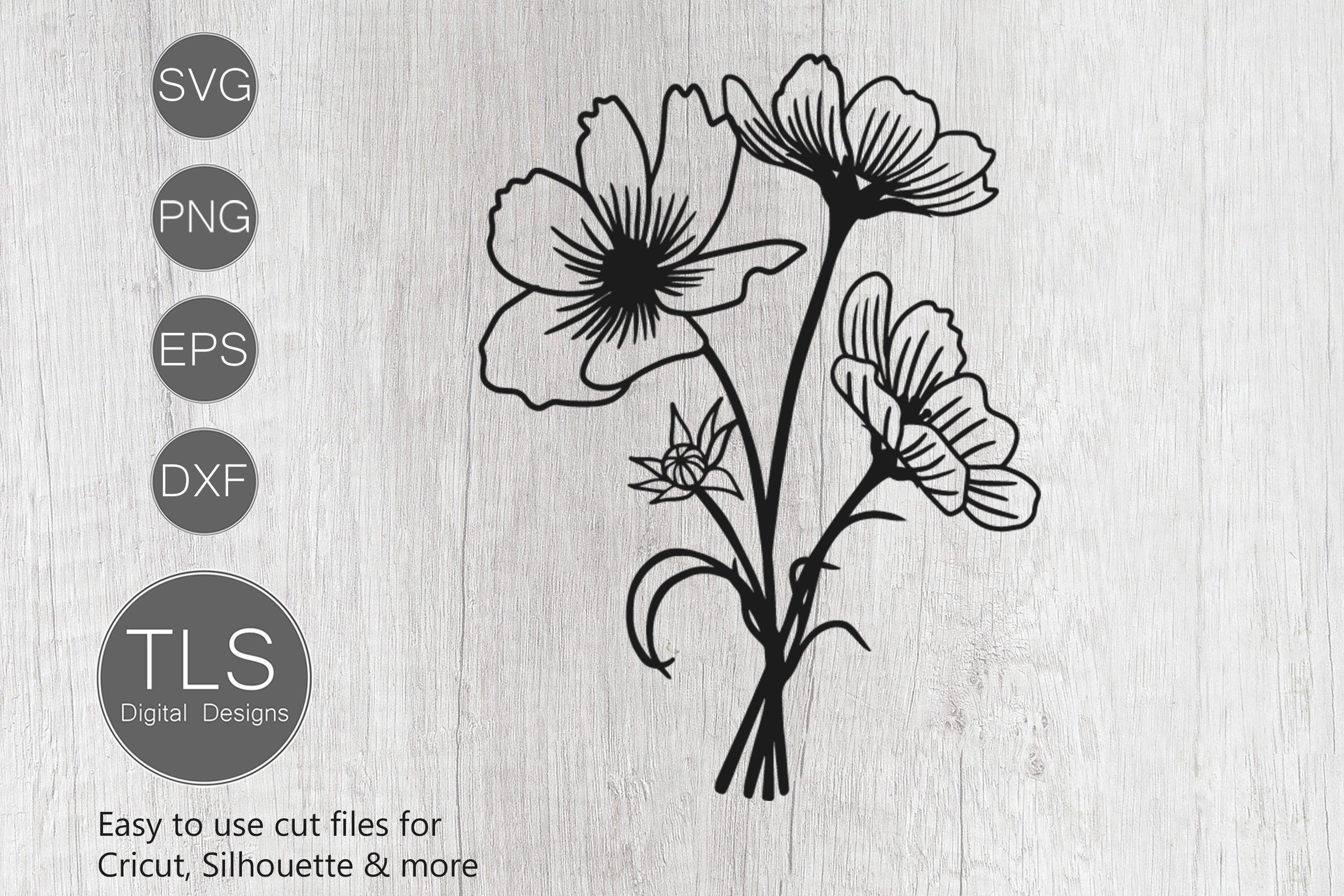 Spring SVG Flower Bouquet SVG