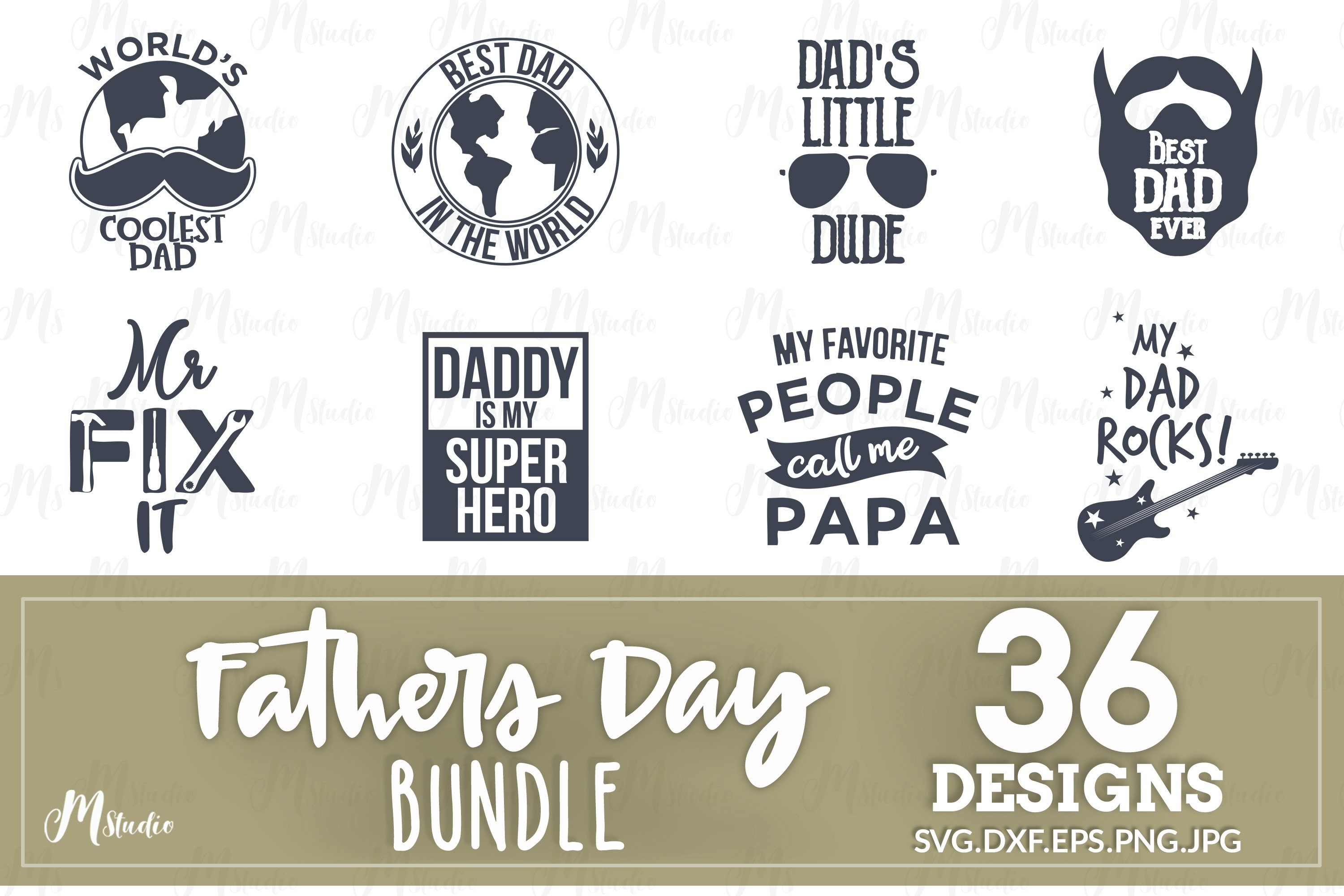 Father's Day SVG Bundle example image 4