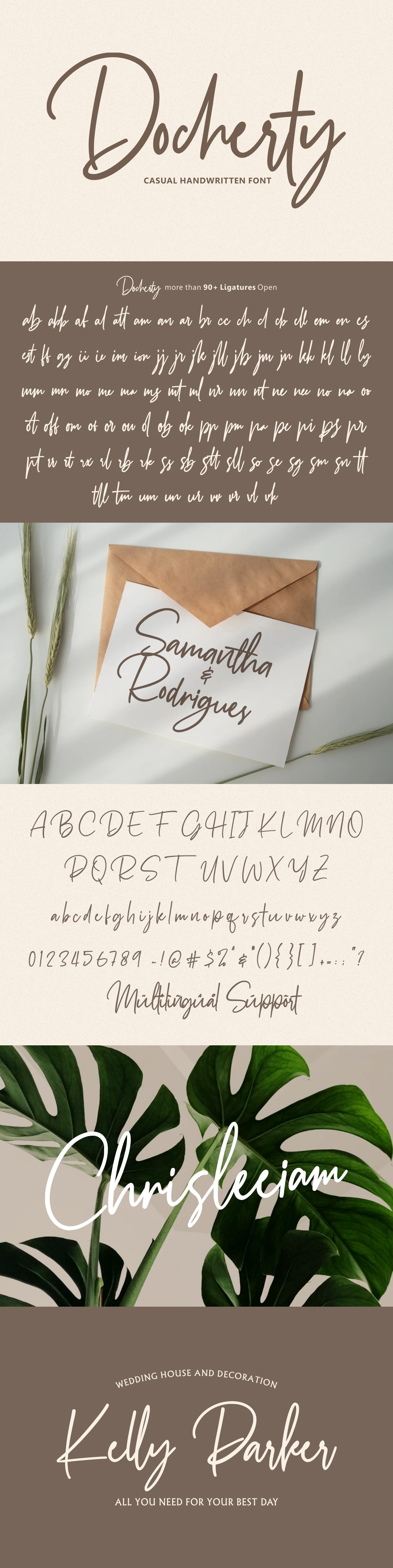 Docherty - Casual Signature Font example image 11