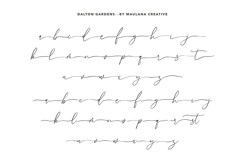 Dalton Gardens - Script Font example image 6