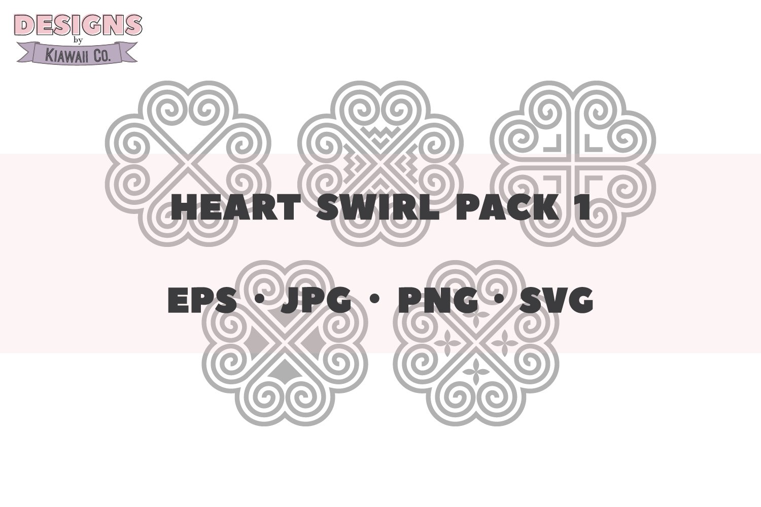 Hmong Heart Swirl Pack 1 - EPS - JPG - PNG - SVG example image 2