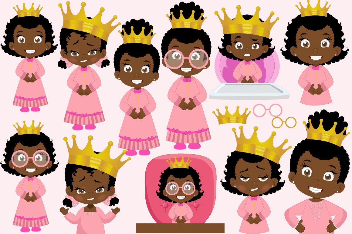 African American Baby queen clipart example image 4