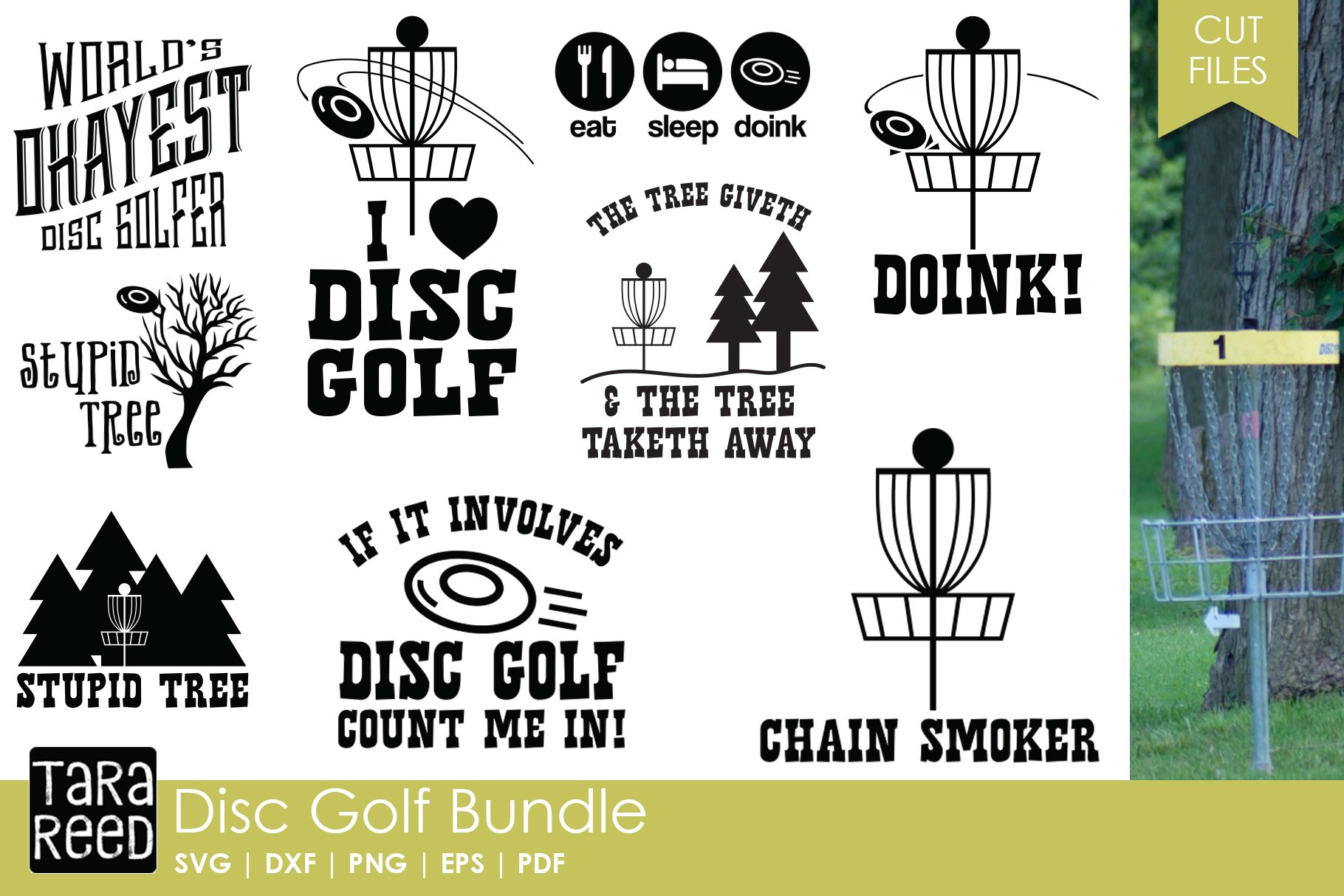 Disc Golf Svg Cut Files For Crafters 154444 Cut Files Design Bundles
