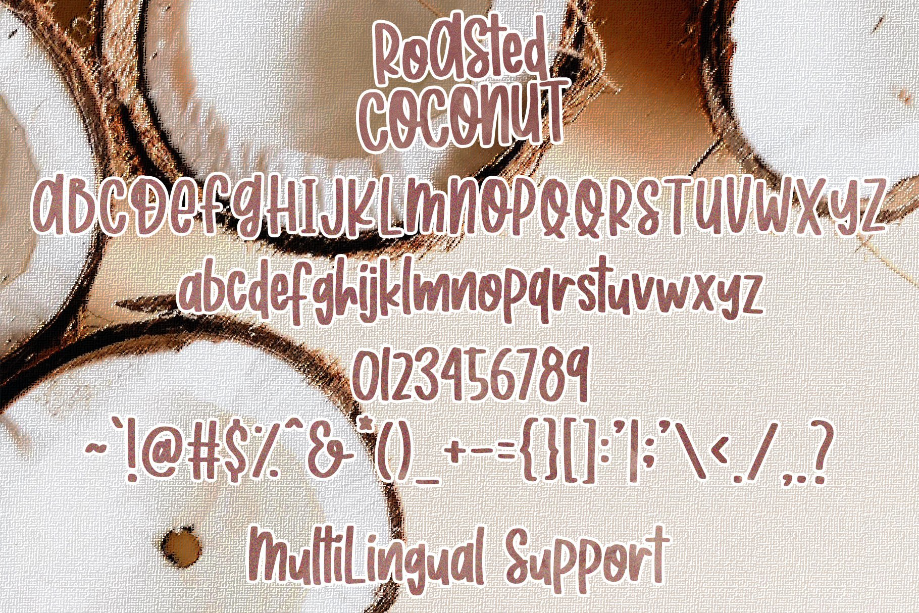 Roasted Coconut - Quirky Handwritten Font example image 5