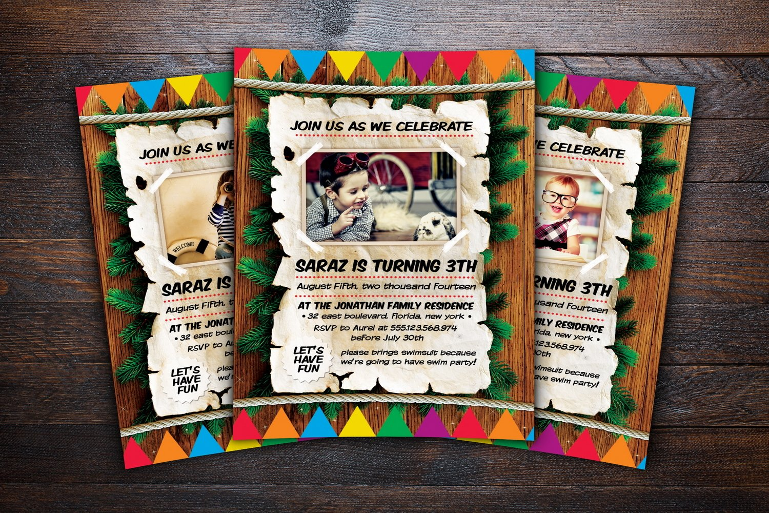 Kids Birthday Invitation example image 3