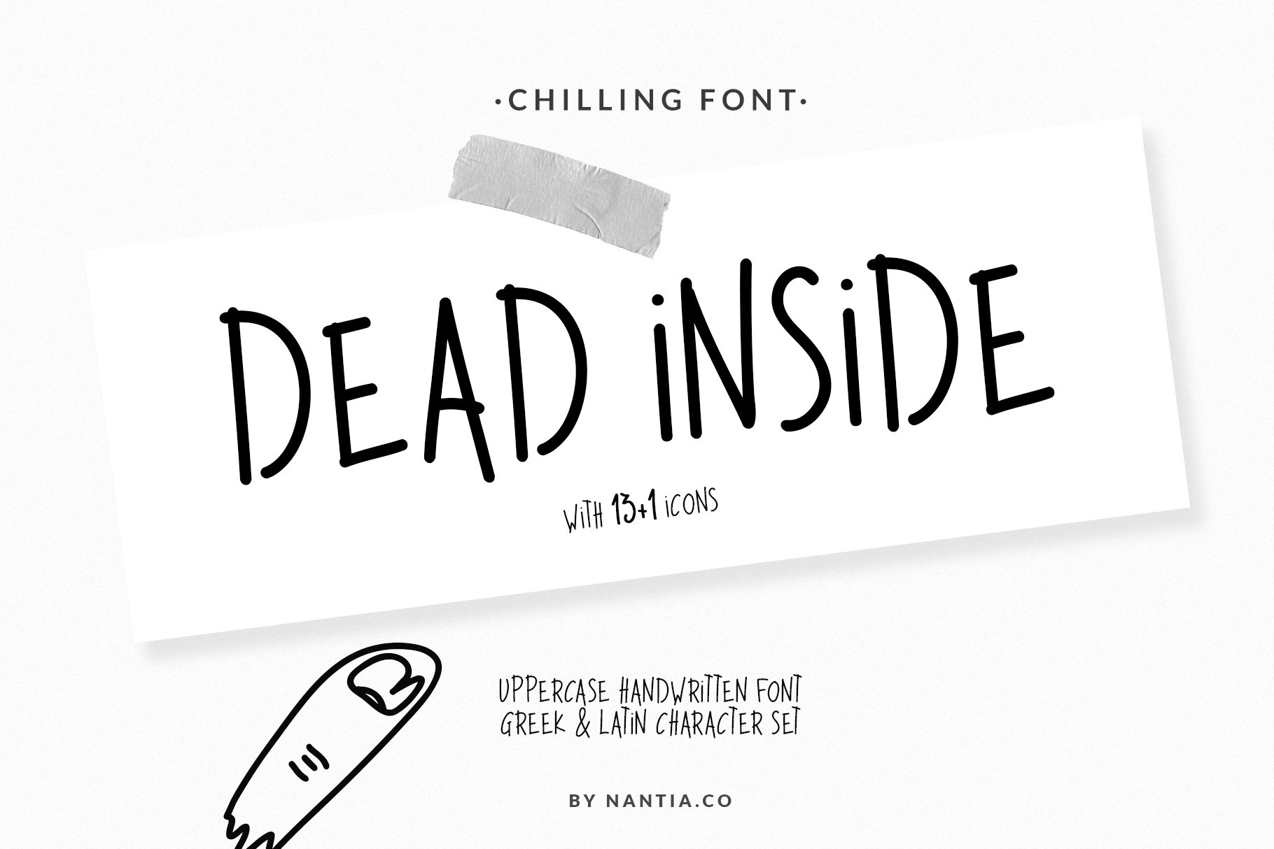 Dead Inside Chilling Font example image 1