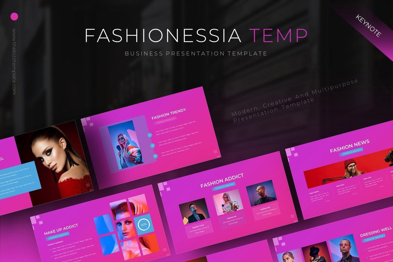 Fashionessia - Keynote Template example image 1