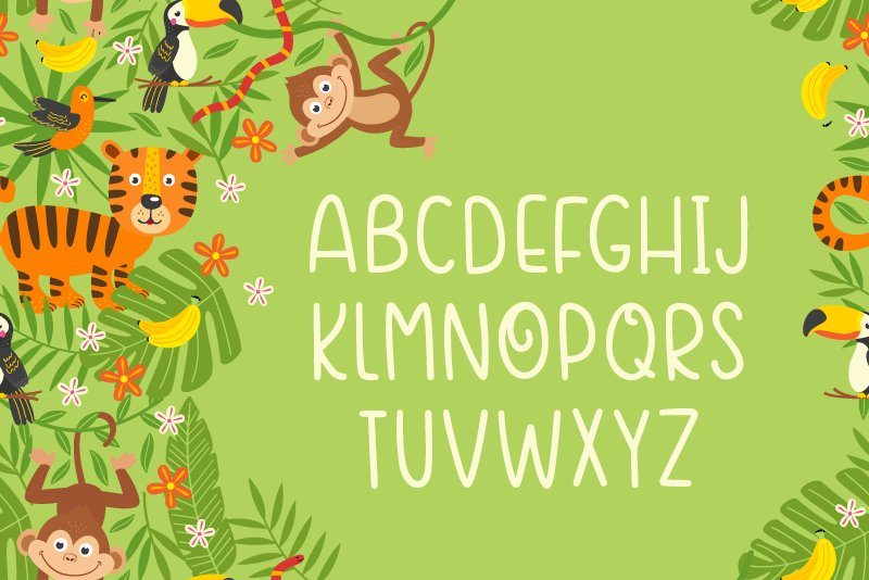 Crazy Monkey Curly Font | LoveSVG example image 3
