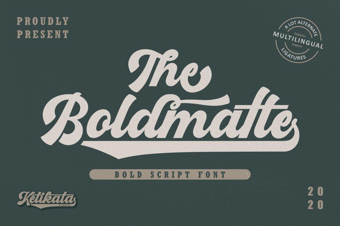 Boldmatte Bold Script Font example image 1