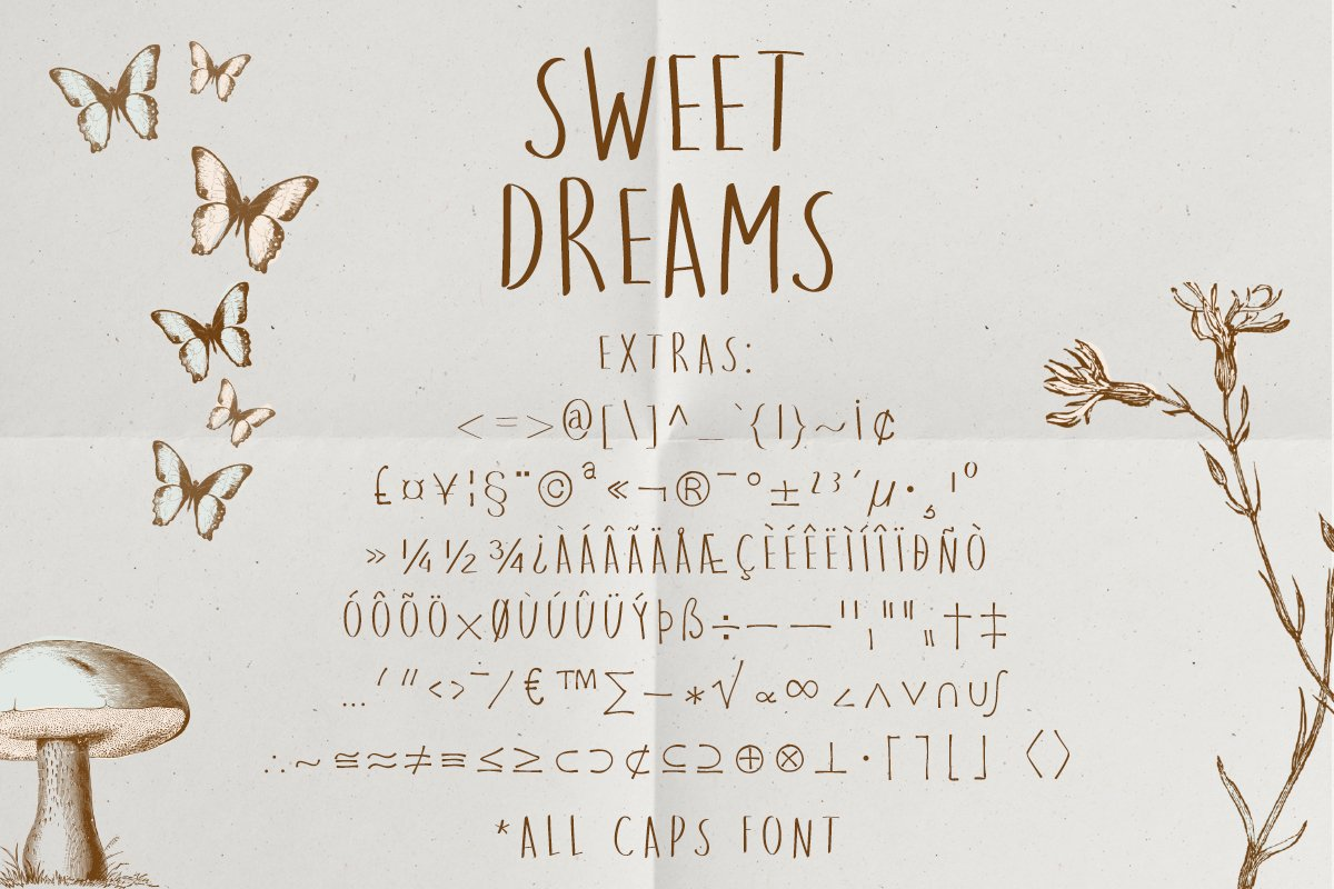 Sweet Dreams a hand-drawn wonky font example image 3