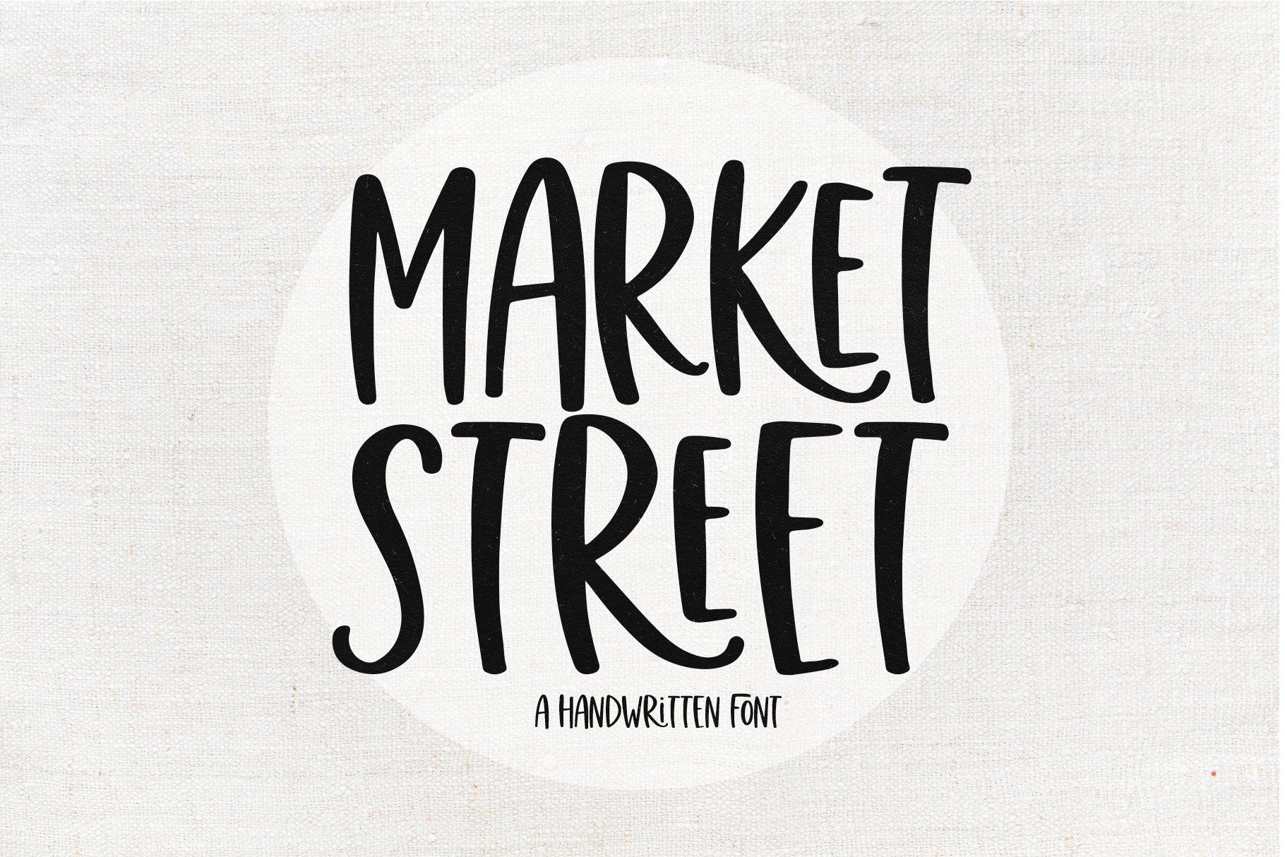 Market Street - A Fun Handwritten Font example image 1