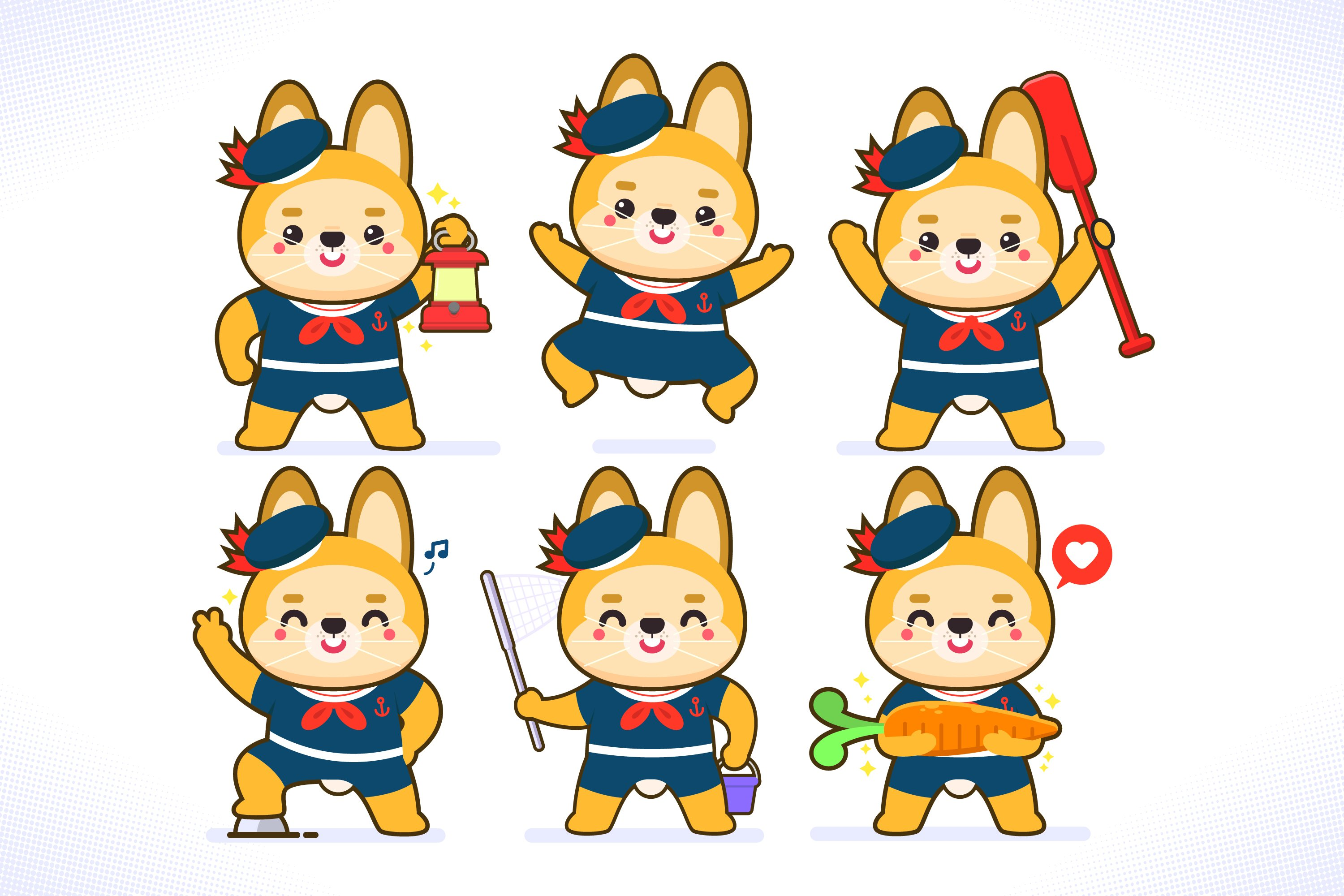 Animals Sailors Characters example image 1