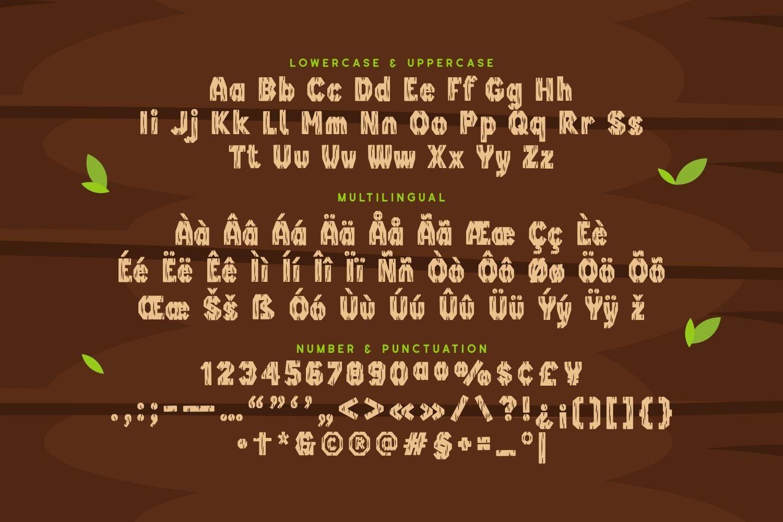 Woodland - Playful Display Font example image 2