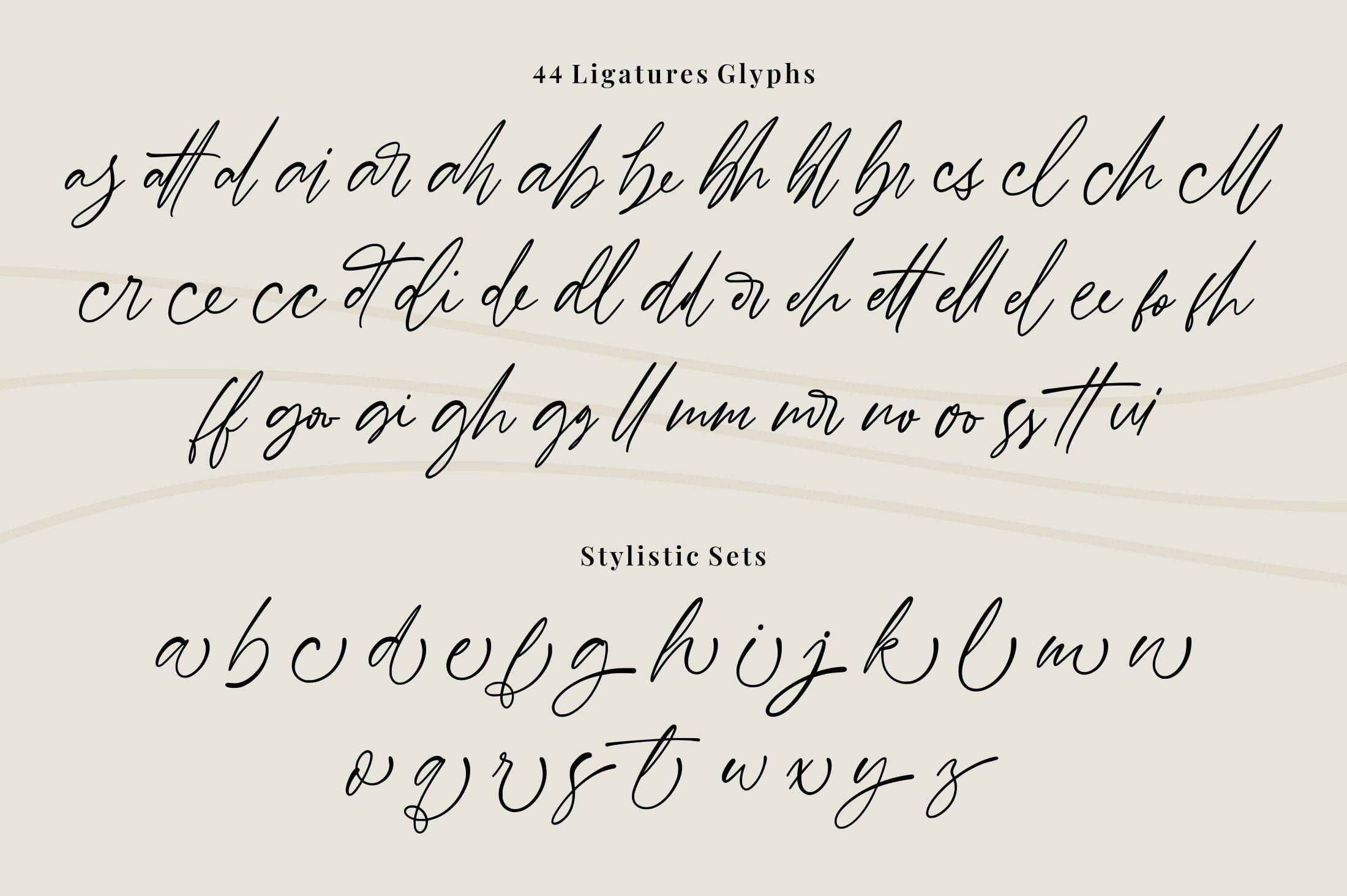 Barnett - Signature Font example image 7
